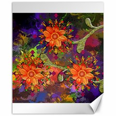 Abstract Flowers Floral Decorative Canvas 16  X 20