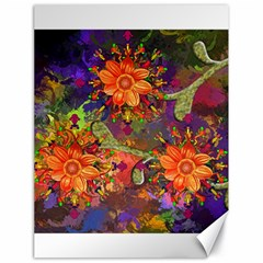 Abstract Flowers Floral Decorative Canvas 18  X 24