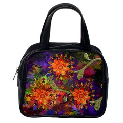 Abstract Flowers Floral Decorative Classic Handbags (one Side)