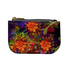 Abstract Flowers Floral Decorative Mini Coin Purses