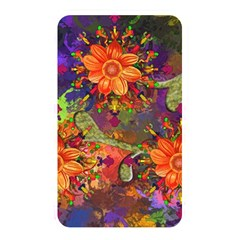 Abstract Flowers Floral Decorative Memory Card Reader