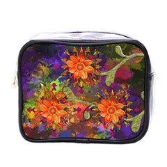Abstract Flowers Floral Decorative Mini Toiletries Bags