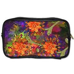 Abstract Flowers Floral Decorative Toiletries Bags 2 Side