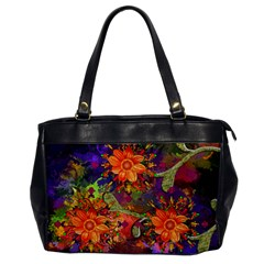 Abstract Flowers Floral Decorative Office Handbags
