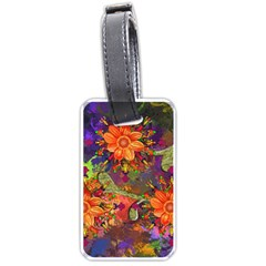 Abstract Flowers Floral Decorative Luggage Tags (one Side)