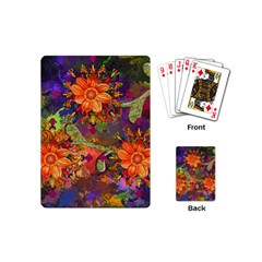 Abstract Flowers Floral Decorative Playing Cards (mini)