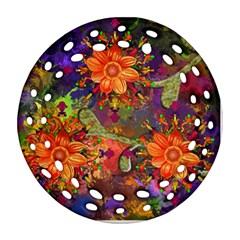 Abstract Flowers Floral Decorative Ornament (round Filigree)