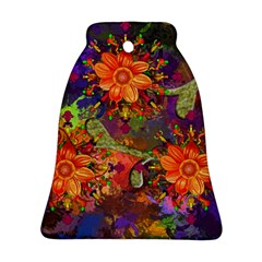Abstract Flowers Floral Decorative Ornament (bell)