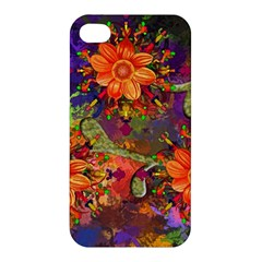 Abstract Flowers Floral Decorative Apple Iphone 4/4s Hardshell Case