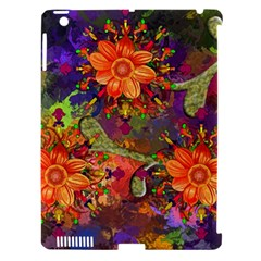 Abstract Flowers Floral Decorative Apple Ipad 3/4 Hardshell Case (compatible With Smart Cover)