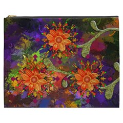 Abstract Flowers Floral Decorative Cosmetic Bag (xxxl)