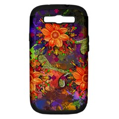 Abstract Flowers Floral Decorative Samsung Galaxy S Iii Hardshell Case (pc+silicone)