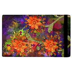 Abstract Flowers Floral Decorative Apple Ipad 3/4 Flip Case