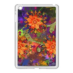 Abstract Flowers Floral Decorative Apple Ipad Mini Case (white)