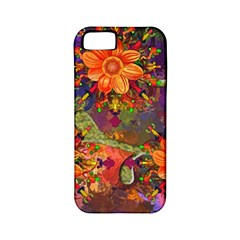 Abstract Flowers Floral Decorative Apple Iphone 5 Classic Hardshell Case (pc+silicone)