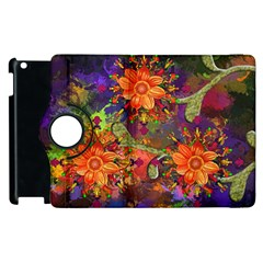 Abstract Flowers Floral Decorative Apple Ipad 3/4 Flip 360 Case
