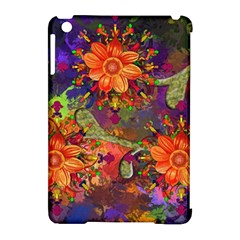 Abstract Flowers Floral Decorative Apple Ipad Mini Hardshell Case (compatible With Smart Cover)