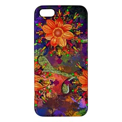 Abstract Flowers Floral Decorative Apple Iphone 5 Premium Hardshell Case