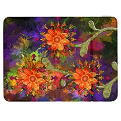 Abstract Flowers Floral Decorative Samsung Galaxy Tab 7  P1000 Flip Case