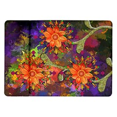 Abstract Flowers Floral Decorative Samsung Galaxy Tab 10 1  P7500 Flip Case