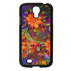 Abstract Flowers Floral Decorative Samsung Galaxy S4 I9500/ I9505 Case (black)