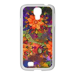 Abstract Flowers Floral Decorative Samsung Galaxy S4 I9500/ I9505 Case (white)