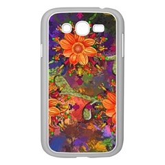 Abstract Flowers Floral Decorative Samsung Galaxy Grand Duos I9082 Case (white)