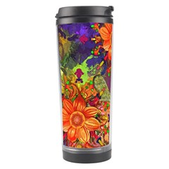 Abstract Flowers Floral Decorative Travel Tumbler