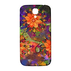 Abstract Flowers Floral Decorative Samsung Galaxy S4 I9500/i9505  Hardshell Back Case