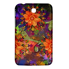 Abstract Flowers Floral Decorative Samsung Galaxy Tab 3 (7 ) P3200 Hardshell Case