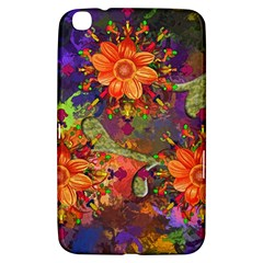 Abstract Flowers Floral Decorative Samsung Galaxy Tab 3 (8 ) T3100 Hardshell Case