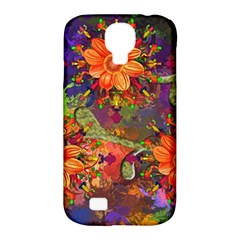 Abstract Flowers Floral Decorative Samsung Galaxy S4 Classic Hardshell Case (pc+silicone)