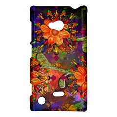 Abstract Flowers Floral Decorative Nokia Lumia 720