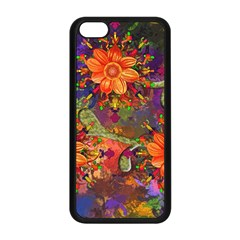 Abstract Flowers Floral Decorative Apple Iphone 5c Seamless Case (black)