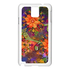 Abstract Flowers Floral Decorative Samsung Galaxy Note 3 N9005 Case (white)