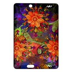 Abstract Flowers Floral Decorative Amazon Kindle Fire Hd (2013) Hardshell Case