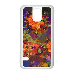 Abstract Flowers Floral Decorative Samsung Galaxy S5 Case (white)