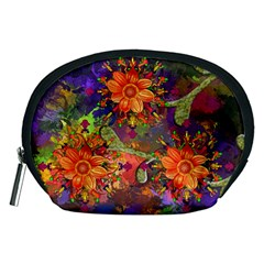Abstract Flowers Floral Decorative Accessory Pouches (medium)
