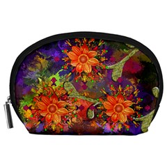 Abstract Flowers Floral Decorative Accessory Pouches (large)