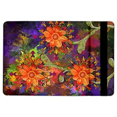 Abstract Flowers Floral Decorative Ipad Air 2 Flip