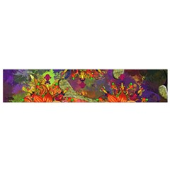 Abstract Flowers Floral Decorative Flano Scarf (small)