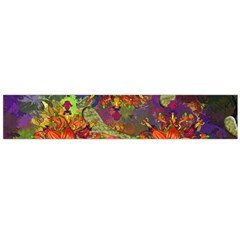 Abstract Flowers Floral Decorative Flano Scarf (large)