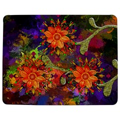 Abstract Flowers Floral Decorative Jigsaw Puzzle Photo Stand (rectangular)