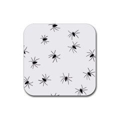 Animals Arachnophobia Seamless Rubber Square Coaster (4 Pack)