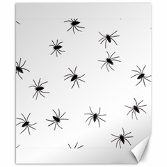 Animals Arachnophobia Seamless Canvas 8  X 10