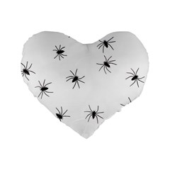 Animals Arachnophobia Seamless Standard 16  Premium Heart Shape Cushions