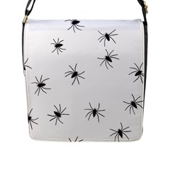 Animals Arachnophobia Seamless Flap Messenger Bag (l)