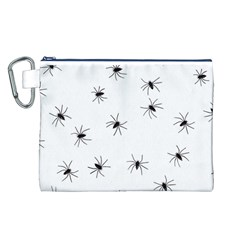 Animals Arachnophobia Seamless Canvas Cosmetic Bag (l)