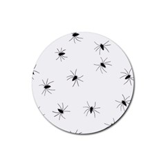 Animals Arachnophobia Seamless Rubber Round Coaster (4 Pack)