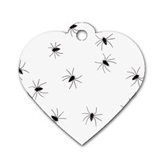 Animals Arachnophobia Seamless Dog Tag Heart (one Side)